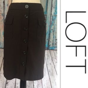 🎉Ann Taylor LOFT Lined Knee Skirt🎉Sz 10